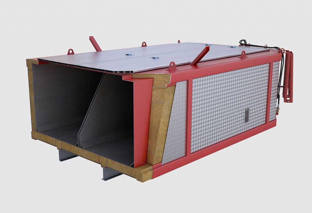 WERNER & WEBER Asphaltcontainer sind isolierte Thermo-Container für den Transport von Asphalt